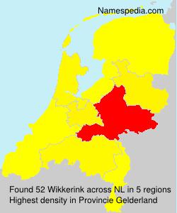 Surname Wikkerink in Netherlands