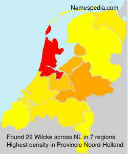 Surname Wilcke in Netherlands