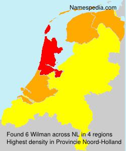 Familiennamen Wilman - Netherlands