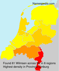 Surname Wilmsen in Netherlands