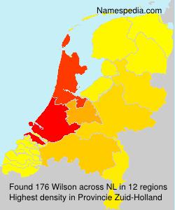 Surname Wilson in Netherlands