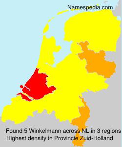 Surname Winkelmann in Netherlands