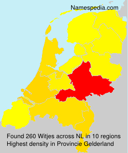 Surname Witjes in Netherlands