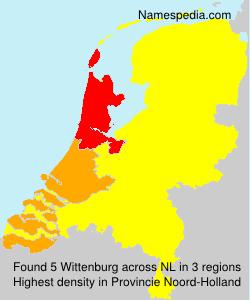 Surname Wittenburg in Netherlands