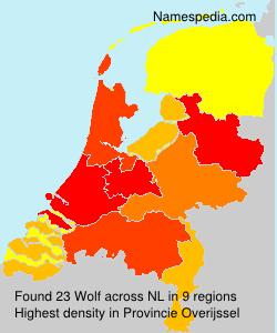 Familiennamen Wolf - Netherlands