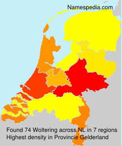 Surname Woltering in Netherlands