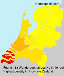 Surname Wondergem in Netherlands