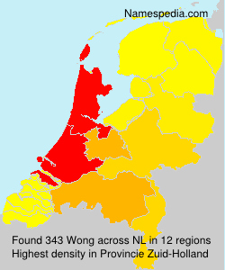Surname Wong in Netherlands