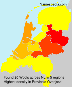 Surname Wools in Netherlands