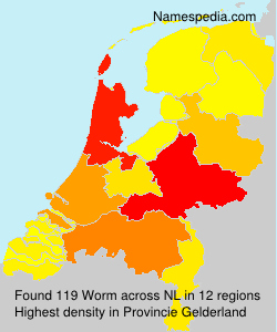Surname Worm in Netherlands