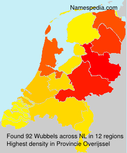 Surname Wubbels in Netherlands