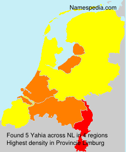 Surname Yahia in Netherlands