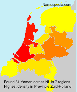 Surname Yaman in Netherlands