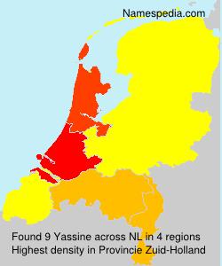Surname Yassine in Netherlands