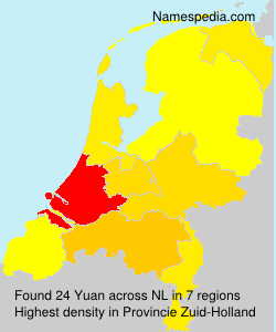 Surname Yuan in Netherlands