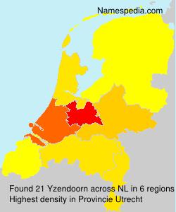 Familiennamen Yzendoorn - Netherlands