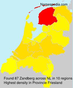 Surname Zandberg in Netherlands