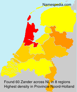 Surname Zander in Netherlands