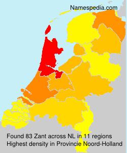 Surname Zant in Netherlands