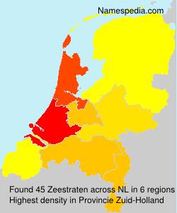 Surname Zeestraten in Netherlands