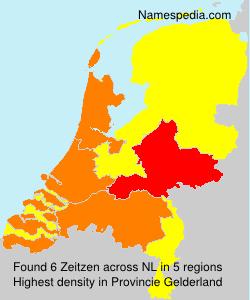 Surname Zeitzen in Netherlands