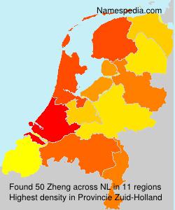 Surname Zheng in Netherlands