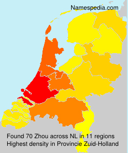 Surname Zhou in Netherlands