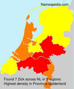 Surname Zick in Netherlands