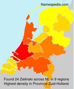Surname Zielinski in Netherlands