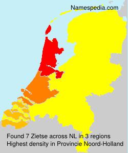 Surname Zietse in Netherlands