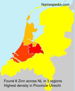 Familiennamen Zinn - Netherlands