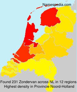 Surname Zondervan in Netherlands