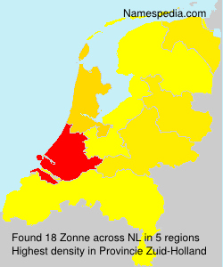Surname Zonne in Netherlands