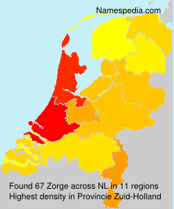 Surname Zorge in Netherlands