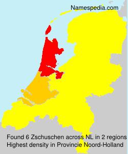 Surname Zschuschen in Netherlands