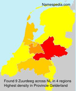 Surname Zuurdeeg in Netherlands