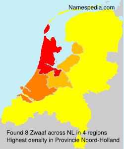 Surname Zwaaf in Netherlands