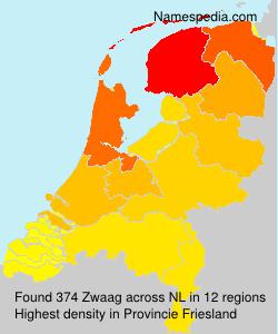 Surname Zwaag in Netherlands