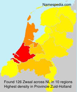Surname Zwaal in Netherlands