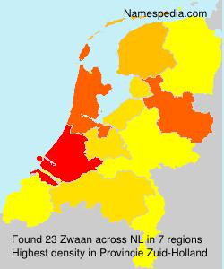 Surname Zwaan in Netherlands