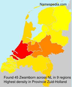Surname Zwamborn in Netherlands
