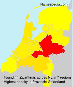 Surname Zwartkruis in Netherlands