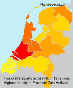 Surname Zwarts in Netherlands