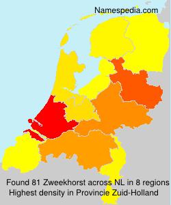 Surname Zweekhorst in Netherlands
