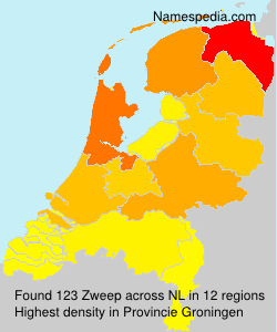 Surname Zweep in Netherlands