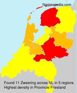 Surname Zweering in Netherlands