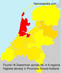 Surname Zweerman in Netherlands