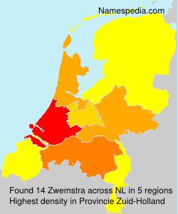 Surname Zwemstra in Netherlands