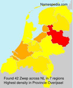 Surname Zwep in Netherlands