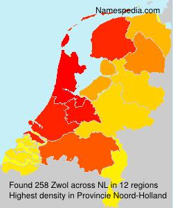 Surname Zwol in Netherlands